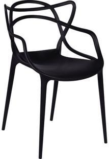 Cadeira De Jantar Solna- Preta- 83,5X54X43Cm- Oror Design