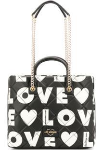 Love Moschino Bolsa Tote Love - Preto