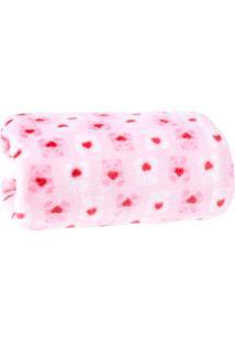 Manta Bebê Premium Toque Flannel 0,80M X 1,00M - Panda