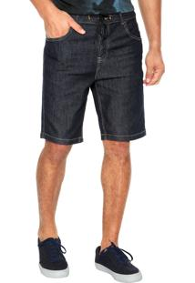 Bermuda Jeans Quiksilver Skate Denim Azul