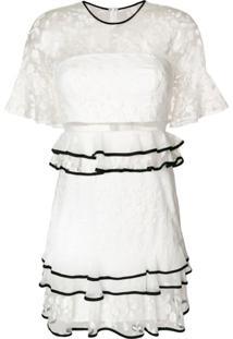 Three Floor Vestido 'Florentine' - Branco