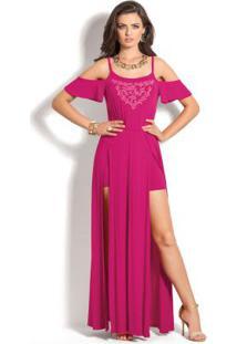 Vestido Longo Pink Miss Masy Ciganinha