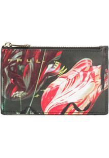 Paul Smith Porta-Moedas Com Estampa Floral - Preto