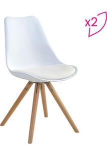 Conjunto De Cadeiras Luisa- Branco & Bege- 2Pçsrivatti