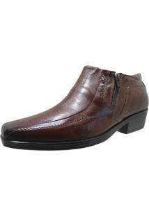 Sapato Abotinado Walk Way West 5003 Conhaque