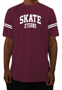Camiseta Manga Curta Skate Eterno Bask Cs Bordo