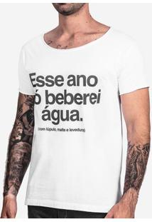 Camiseta Lúpulo, Malte E Levedura Gola Canoa 103355