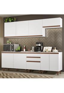 Cozinha Completa Madesa Reims 250001 Com Armário E Balcão - Branco