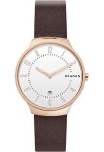 Relógio Skagen Masculino Grenen - Skw6458/1Mn Skw6458/1Mn - Masculino-Marrom