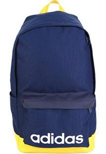Mochila Adidas Lin Clas Bp Xl - Unissex-Azul+Amarelo