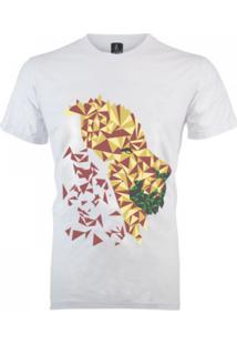 Camiseta João Homor Leão Geométrico Branca