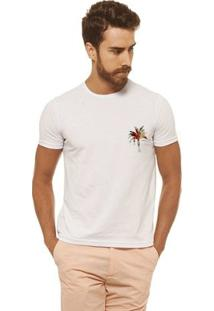 Camiseta Joss - Palmeira Color - Masculina - Masculino-Branco