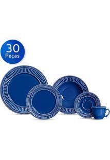Aparelho De Jantar 30 Peças Poppy - Scalla - Azul