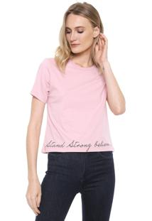 Camiseta Carmim Dreams Rosa