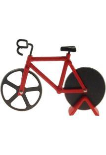 Cortador De Pizza Bicicleta Decorativo Cor Vermelho 12X18Cm