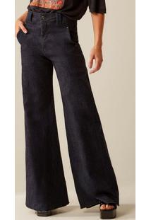 Calça Jeans Pantalona Azul