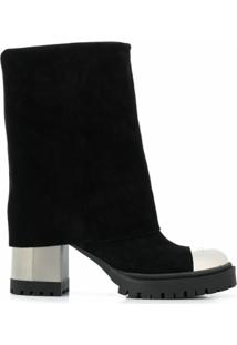 Casadei Bota Rock City Com Salto 85Mm - Preto