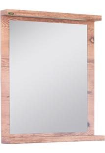 Espelheira Zurique 73X60Cm Amêndoa