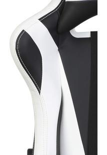 Cadeira Gamer Reclinável Max Racer Skilled Ski-3 Branca E Preta