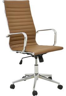 Cadeira Office Sevilha Alta Marrom Escuro Rivatti Móveis