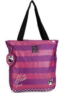 Bolsa Clio Tote Bag Rebecca Feminina - Feminino-Lilás