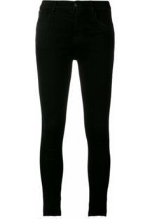 J Brand Calça Jeans Cropped 'Alana' - Preto
