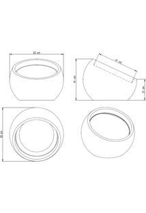 Vaso Decorativo De Plástico Esfera Linea 21Cmx47Cm Japi Cimento