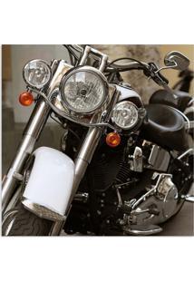 Quadro Moto Frontal Uniart Preto 45X45Cm