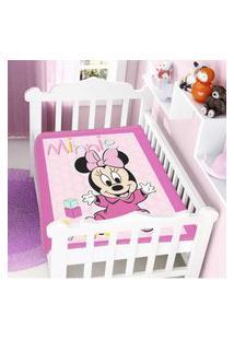 Cobertor Menina Disney Minnie Patinhos Jolitex