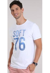 "Camiseta Flamê ""Soft 76"" Branca"