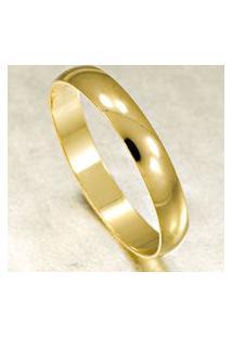 Aliança De Ouro Com Acabamento Liso - As0004 Dourado