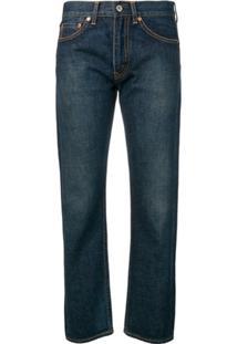 Junya Watanabe Calça Jeans Cropped - Azul