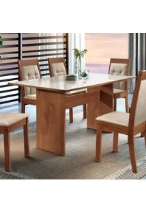 Sala De Jantar Completa Com Mesa E 6 Cadeiras Dakota Siena Móveis Chocolate