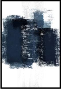 Quadro 75X50Cm Abstrato Textura Artea Moldura Preta Sem Vidro Oppen House