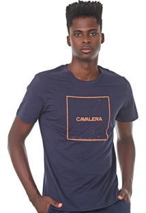 Camiseta Cavalera Quadrado Azul-Marinho