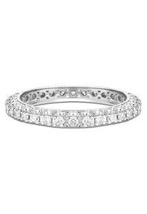 Aliança Absoluta Ouro Branco E 64 Pontos De Diamantes