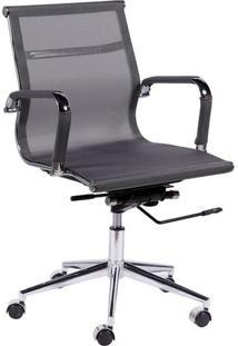 Cadeira Office Eames Tela- Cinza & Prateada- 97X61X4Or Design