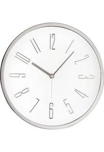 Relógio De Parede- Branco & Prateado- 4Xø30Cm- Mmart