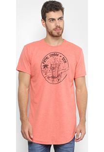 Camiseta Fatal Estampada Sk8 Masculina - Masculino-Laranja Claro