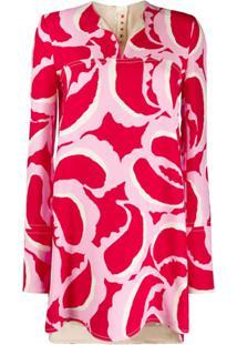 Marni Blusa Com Estampa Abstrata - Rosa