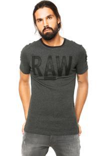 Camiseta G-Star Recortes Preta