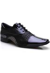 Sapato Social Calvest Verniz Preto Masculino - Masculino-Preto