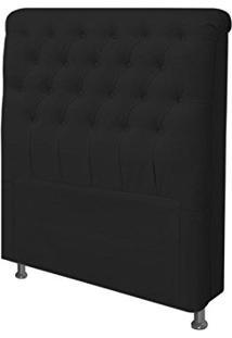 Cabeceira Para Cama Box Solteiro 90 Cm Paris Suede Preto - Js Móveis
