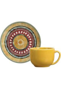 Conjunto De Xícaras Coup Yucatán Para Chá Em Cerâmica 260 Ml Com 06 Peças - Porto Brasil
