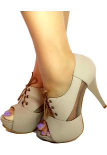 Ankle Boot Bellatotti Stivaletto Bege