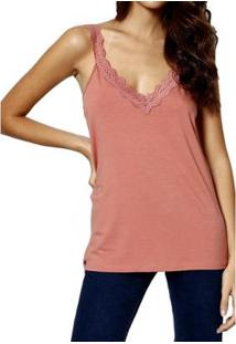 Blusa You Two Regata Feminina - Feminino-Rosa