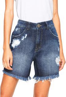 Bermuda Jeans Denuncia Estonada Azul