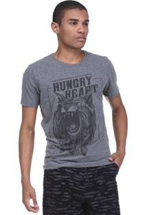 Camiseta King&Joe Hungry Heart Cinza