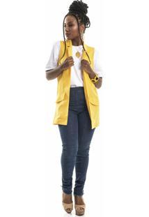 Colete Social Alfaiataria Coleteria Amarelo
