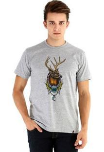 Camiseta Ouroboros Manga Curta Deer - Masculino-Cinza